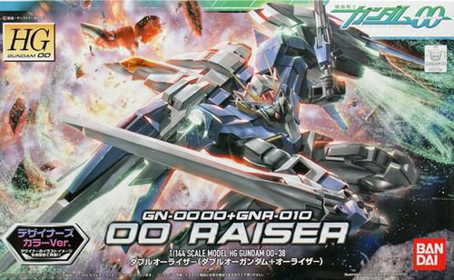 Bandai HG OO 38 Gundam GN-0000+GNA-010 OO RAISER 1/144 Scale Kit