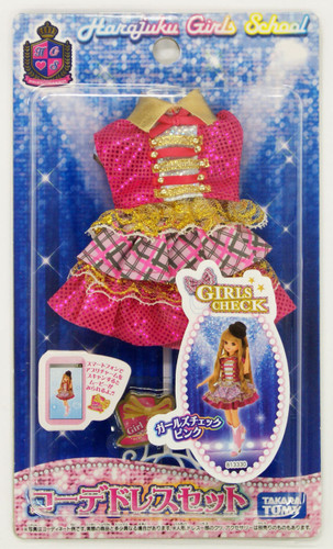 Takara Tomy Licca Doll Dress Set GIRLS CHECK PINK  doll not included  (813330)