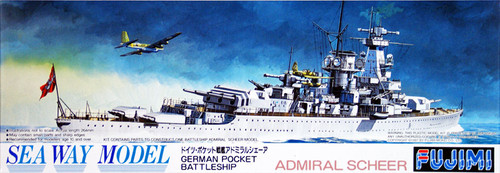 Fujimi SWM34 German BattleShip Admiral Scheer 1/700 Scale Kit