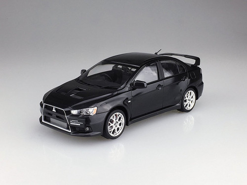 Aoshima 50903 Lancer Evolution X Final Ed. Phantom Black Pearl (Pre-painted) 1/24 scale kit