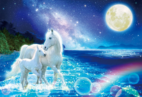 Beverly Jigsaw Puzzle 91-131 Fantasy Art White Horse in Blue Ocean (1000 Pieces)
