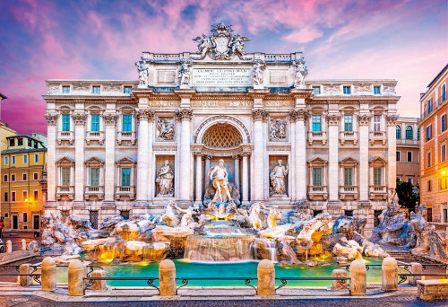 Beverly Jigsaw Puzzle M81-860 Trevi Fountain Rome Italy (1000 S-Pieces)