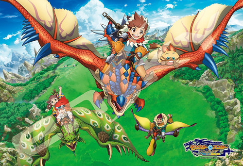 Ensky Jigsaw Puzzle 108-L576 Monster Hunter Stories RIDE ON (108 L-Pieces)