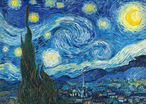Epoch Jigsaw Puzzle 54-003 World Art The Starry Night (2000 S-Pieces)