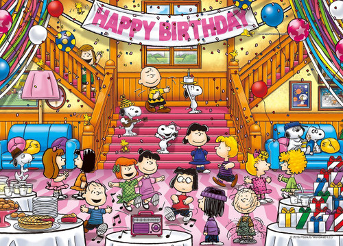 Epoch Jigsaw Puzzle 06-076s Peanuts Snoopy Birthday Party (500 Pieces)