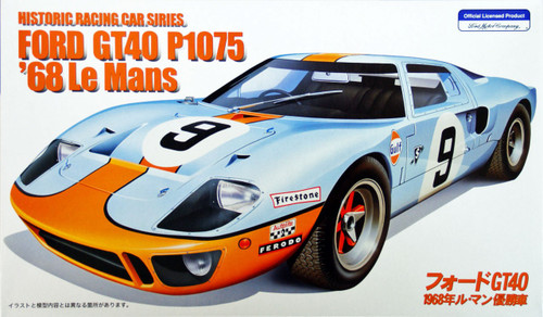 Fujimi HR3 Ford GT40 1968 Le Mans Winnder 1/24 Scale Kit