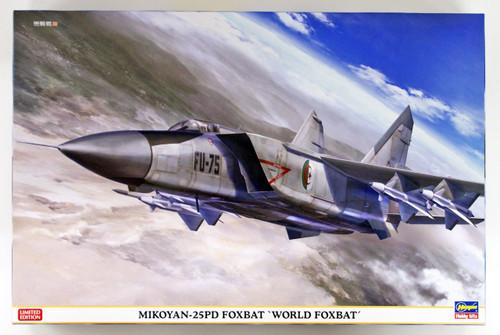 """Hasegawa 02221 Mikoyan-25PD Foxbat """"World Foxbat"""" 1/72 scale kit"""