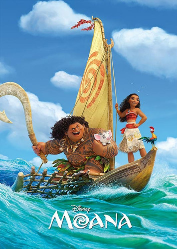 Tenyo Japan Jigsaw Puzzle D-108-801 Disney Moana (108 Pieces)
