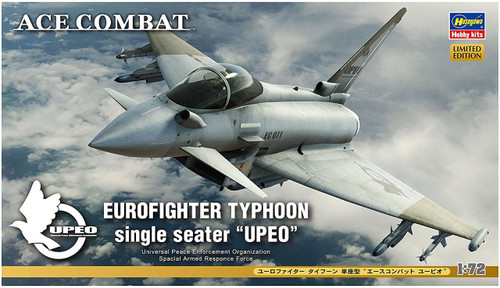 "Hasegawa SP355 Ace Combat Eurofighter Typhoon Single Seater ""Upeo"" 1/72 scale kit"