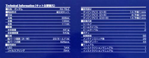Bandai PG 606255 GUNDAM RX-78-2 GUNDAM 1/60 scale kit