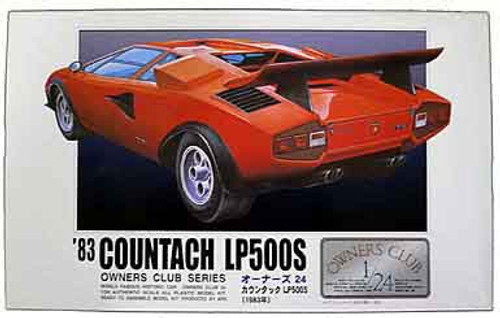 Arii Owners Club 1/24 23 1983 Countach LP500S 1/24 Scale Kit (Microace)