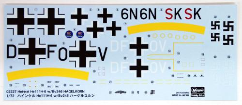 Hasegawa 02227 Heinkel He111H-6 w/Bv246 HAGELKORN 1/72 scale kit