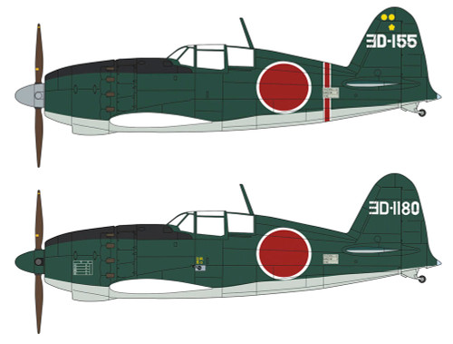 "Hasegawa 02234 Mitsubishi J2M Interceptor Raiden Type 21 ""JASDF 302nd Tactical Fighter Squadron Combo Part II"" 1/72 scale kit"