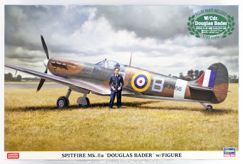 "Hasegawa 08247 Royal Air Force Spitfire Mk.2a ""Douglas Bader"" w/ Figure 1/32 scale kit"