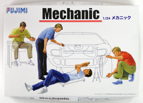 Fujimi GT03 114903 Garage & Tool Series Mechanic 1/24 scale kit