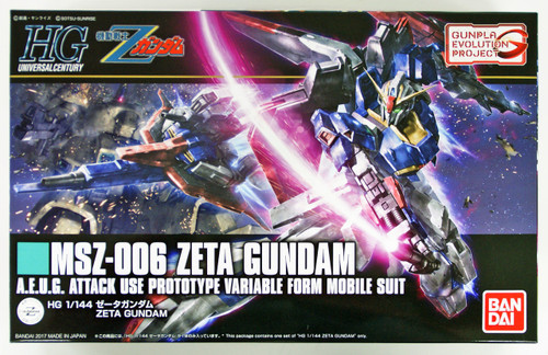 Bandai HGUC 203 GUNPLA Evolution Project Series MSZ-006 ZETA GUNDAM 1/144 scale kit