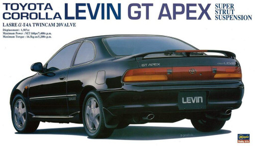 Hasegawa 20254 Toyota Carolla Levin GT Apex Super Strut Suspension 1/24 scale kit