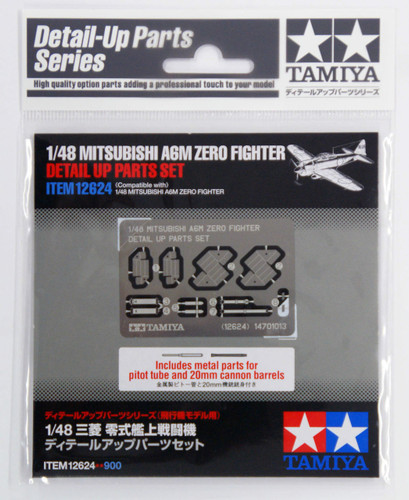 Tamiya 12624 Mitsubishi A6M Zero Fighter Detail Up Parts Set 1/48 Scale Kit