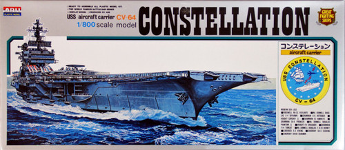 Arii-07 618073 USS Aircraft Carrier Constellation CVA-64 1/800 Scale (Microace)