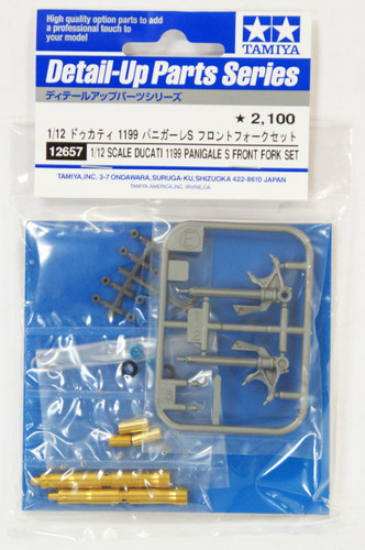 Tamiya 12657 Ducati 1199 Panigale S Front Fork Set 1/12 Scale Kit