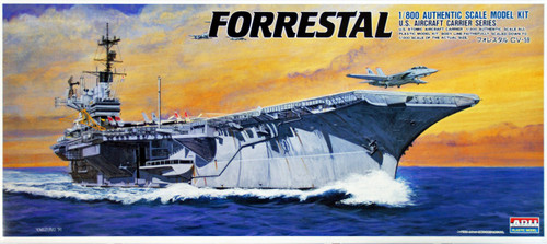 Arii-17 618172 USS Aircraft Carrier Forrestal CV-59 1/800 Scale Kit (Microace)