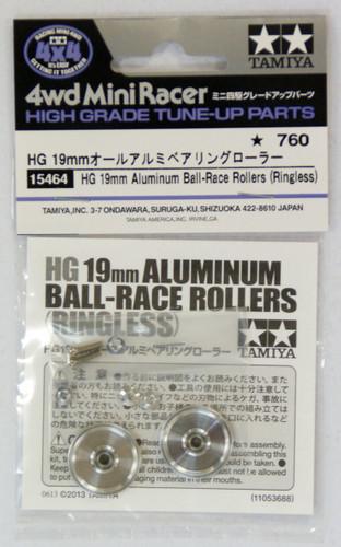 Tamiya 15464 Mini 4WD HG 19mm Aluminum Ball-Race Rollers (Ringless)