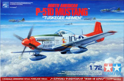 "Tamiya 25148 North American P-51D MUSTANG ""Tuskegee Airmen"" 1/72 Scale Kit"