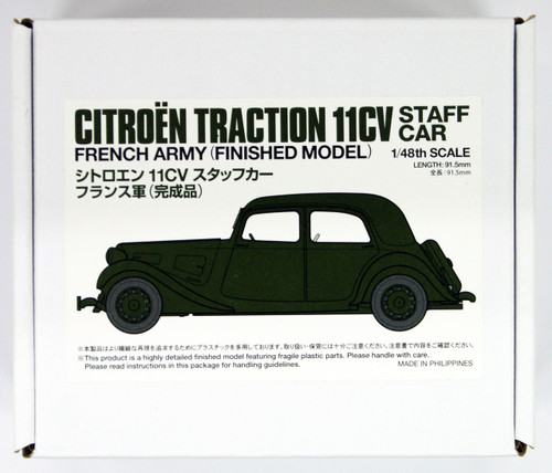 Tamiya 26548 French Citroen 11CV Staff Car 1/48 Scale Kit Finished Model