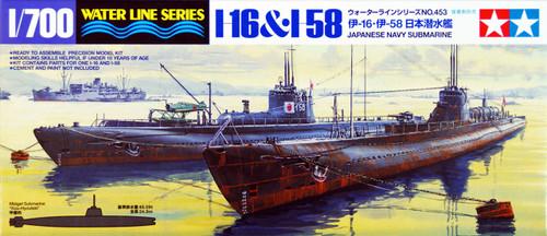 Tamiya 31453 IJN Japanese Navy Submarine I-16 & I-58 1/700 Scale Kit