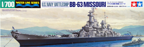 Tamiya 31613 US Navy Battleship BB-63 MISSOURI 1/700 Scale Kit