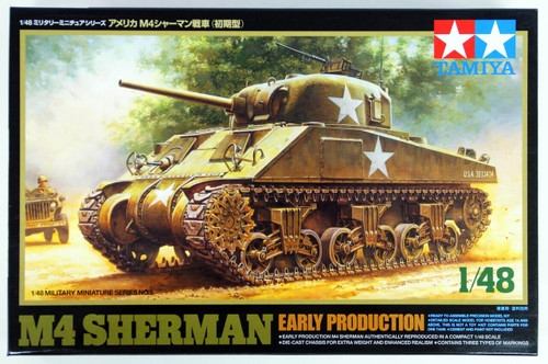Tamiya 32505 US Medium Tank M4 SHERMAN Early Production 1/48 Scale Kit