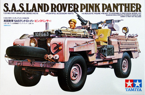 Tamiya 35076 British S.A.S. Land Rover Pink Panther 1/35 Scale Kit