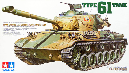 Tamiya 35163 Japan Ground Self Defence Force Type 61 Tank 1/35 Scale Kit