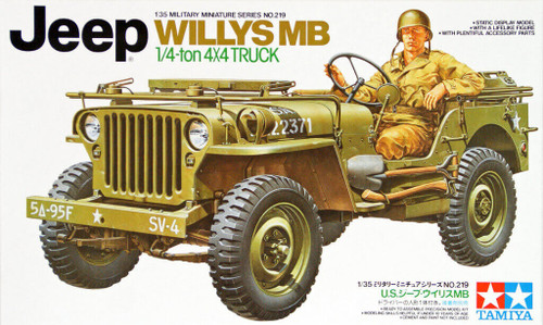 Tamiya 35219 US 1/4 Ton 4x4 Truck Jeep Willys MB 1/35 Scale Kit