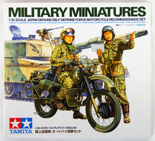 Tamiya 35245 JGSDF Motorcycle Recon Set 1/35 Scale Kit