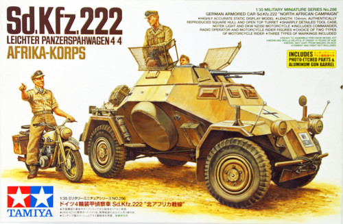 Tamiya 35286 German Armored Car Sd.Kfz.222 North African Campaign 1/35 Scale Kit