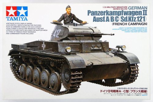 Tamiya 35292 German Panzerkampfwagen II Ausf. A/B/C (Sd.Kfz.121) 1/35 Scale Kit