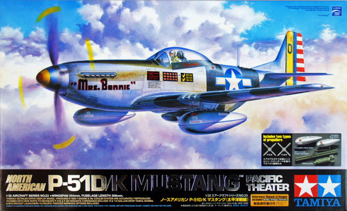 Tamiya 60323 North American P-51D/K Mustang (Pacific Theater) 1/32 Scale Kit