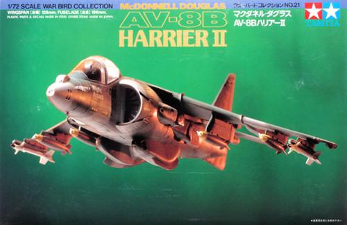 Tamiya 60721 McDonnell Douglas AV-8B Harrier II 1/72 Kit