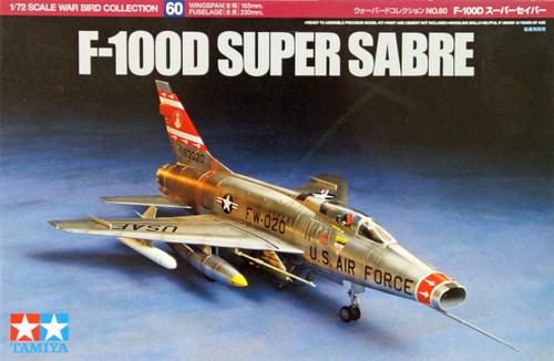 Tamiya 60760 F-100D Super Sabre 1/72 Scale Kit