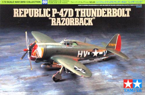 Tamiya 60769 Republic P-47D Thunderbolt Razorback 1/72 Kit