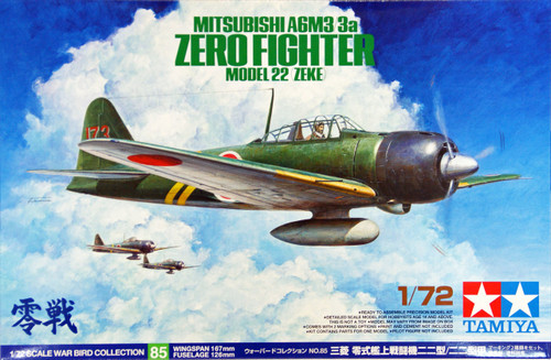 Tamiya 60785 Mitsubishi A6M3/3a Zero Fighter Model 22 (Zeke) 1/72 Scale Kit