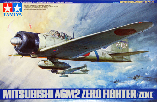 Tamiya 61016 Mitsubishi A6M2 Type 21 Zero Fighter (Zeke) 1/48 Scale Kit