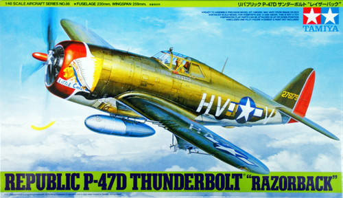 "Tamiya 61086 Republic P-47D Thunderbolt ""Razorback"" 1/48 Scale Kit"