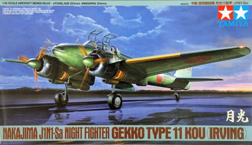 Tamiya 61093 Nakajima J1N1-Sa Night Fighter Gekko Type 11 Kou 1/48 Scale Kit