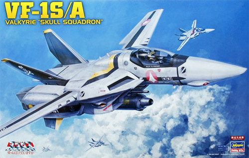 Hasegawa Macross 657922 VF-1S/A VALKYRIE SKULL SQUADRON 1/48 Scale Kit