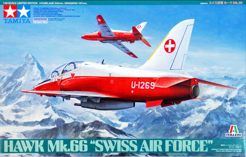 Tamiya 89784 Hawk Mk.66 Swiss Air Force 1/48 Scale Kit