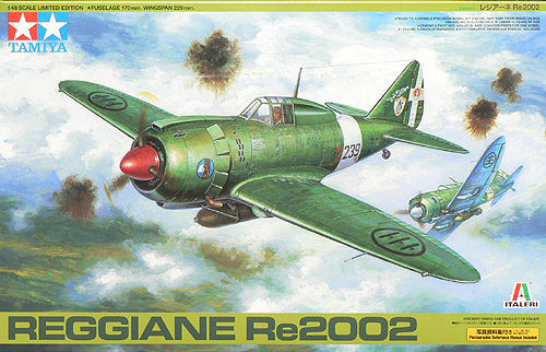 Tamiya 89787 Italian Air Force Reggiane Re.2002 1/48 Scale Kit