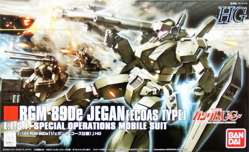 Bandai HGUC 123 Gundam RGM-89De JEGAN (ECOAS TYPE) 1/144 Scale Kit