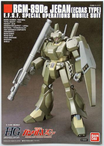 Bandai HGUC 123 Gundam RGM-89De JEGAN (ECOAS TYPE) 1/144 Scale Kit